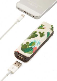 Cactus What You Preach Battery Pack in Desert Multi Good Novelty Print Travel Summer Dorm Decor Iphone Charger, Iphone Cases, Accessoires Iphone, Cactus Decor, Stuff And Thangs, Tablets, Portable Charger, Home And Deco, Desk Accessories