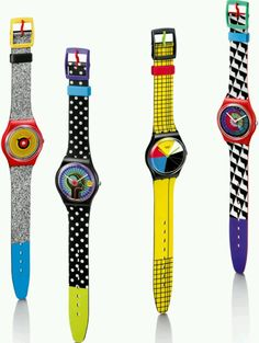 Swatch watches — back in the 80s, I had one of these and nowadays I hardly ever wear a watch (not with a smartphone handy)....