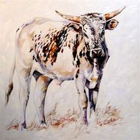 Terry Kobus produces a variety of styles and sized works each displaying fine craftsmanship and execution and is renowned for his exquisite. Bull Painting, Cow Art, Watercolor Animals, Rind, Animal Paintings, My Animal, Livestock, Farm Animals, Pet Birds