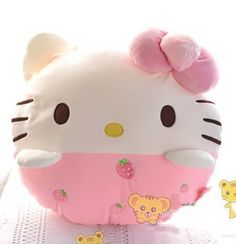 Hello Kitty Fruit Series Pillow Cushion Plush Toy Pillow Face Strawberry -- To view further for this item, visit the image link.Note:It is affiliate link to Amazon.