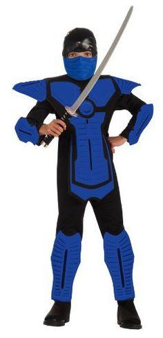Blue Ninja Molded Armor Jumpsuit Costume Child Rubie's Costume Co. $16.99