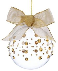 gold bow christmas   ornament
