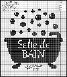 1000 images about salle de bains bathroom wc point de croix cross stitch on pinterest. Black Bedroom Furniture Sets. Home Design Ideas