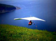 Vue Du Ciel - Mont St-Pierre : deltaplane tandem Mont St-Pierre Gaspésie Québec vol d'initiation certificat cadeau activité guidée plein air...