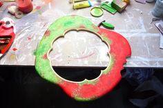 Funky Apple shaped Mirror.