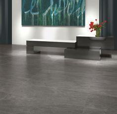 Our Slate porcelain tile range is home to a number of stylish, high-quality flooring options for indoor and outdoor living spaces. Slate Flooring, Flooring Options, Porcelain Tile, Outdoor Living, Living Spaces, Tiles, Indoor, Grey, Interior