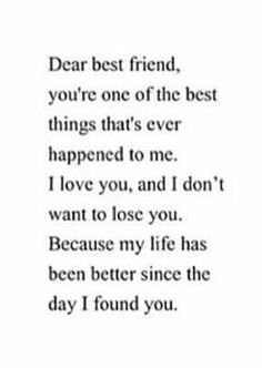 Dear, Best Friend.