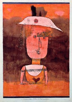 Paul Klee 一番好きなパウルクレー ヴェニスにあるよ。 Portrait of Frau P. in the South (Bildnis der Frau P. im Süden), 1924 Watercolor and oil transfer drawing on paper, mounted on gouache-painted board, 42.5 x 31 cm, including mount Peggy Guggenheim Collection, Venice 76.2553 PG 89