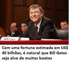 Bill Gates é alvo de muitos boatos