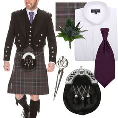 What to wear to your Wedding : A Suit Guide for the Groom Kilt Wedding, Tartan Wedding, Irish Wedding, Grooms In Kilts, Men In Kilts, Kilt Men, Scottish Culture, Scottish Kilts, Suit Guide