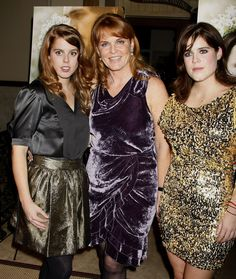 2009: The Duchess of York (Fergie) with her daughters Princess Beatrice and Princess Eugenie.