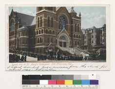 Bread line at St. Mary's Cathedral. San Francisco, Cal. (1906) via @californiahistoricalsociety