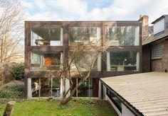 'Corten House', the 1969 self-designed home of modernist architect John Winter in London.