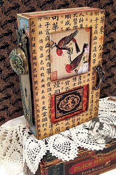 This is a beautiful altered art box by @Kristin Wilson using Bird Song! So gorgeous! #graphic45