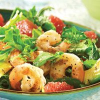 Grilled Shrimp and Grapefruit Salad. Incredibly fresh and takes only 20 minutes.