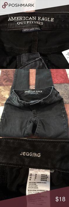 American Eagle black jegging American Eagle black jegging...size 00 American Eagle Outfitters Pants Skinny