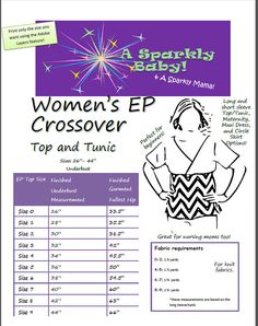 Easy Peasy Crossover! Make a top, a tunic, a retro style circle skirt, a maxi length dress, or a maternity top! The Womens EP is nursing mom friendly and is SO EASY!!