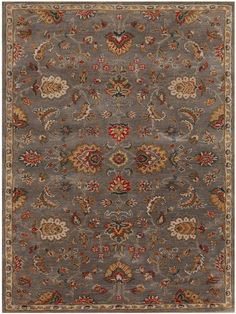 d700d1574600 Amer Rugs Liberty Dark Gray Traditional Rug from the Assorted Transitional  Rugs collection at Modern Area Rugs