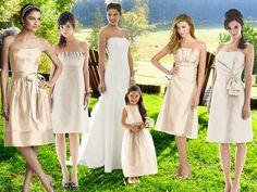 Summer Whites : PANTONE WEDDING Styleboard : The Dessy Group