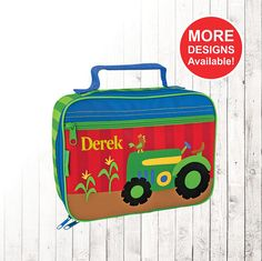 Personalized Tractor Lunch box Stephen Joseph Lunch Box