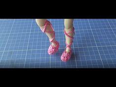 Sapatilha de balé em crochê para Blythe passo a passo