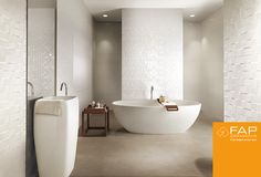 #Lumina total white in #Matt body and 3d pattern #Square, with reliefs which multiply the reflecting light