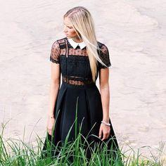 FLEUR LACE PANEL DRESS  RG @reyerlooks