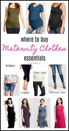 549520ab4ae Essential maternity clothes pieces to mix and match throughout your  pregnancy. Focused on key must-haves to keep you stylish for months.