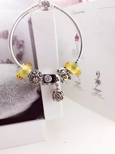 50% OFF!!! $179 Pandora Charm Bracelet Yellow. Hot Sale!!! SKU: CB01779 - PANDORA Bracelet Ideas