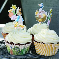 Peter Rabbit party picks | Peter Rabbit cupcake toppers
