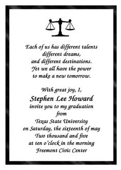 lots of law school scales of justice graduate announcements and graduation invitations for graduates at cardsshoppe - Graduations Invitations