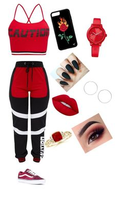 """""""Untitled #31"""" by beeneyhead on Polyvore featuring Vans, Lime Crime, Tommy Hilfiger and Miss Selfridge"""