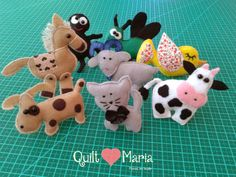 Quilt Maria: The Old Lady Who Swallowed a Fly em Tecido