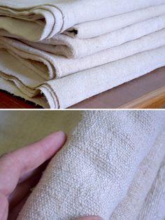 Chunky Fabric Vintage Hemp Cover / Large by AntiqueTransylvania