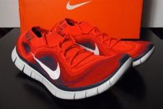 Nike Free Flyknit + 5.0 Men size 10.5 Running Gym Red 615805 616 #Nike #AthleticSneakers