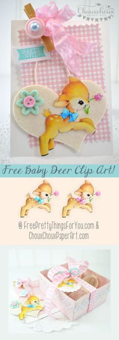 Free Baby Deer Image and DIY Project Inspiration with Chouxchoux Paper Art