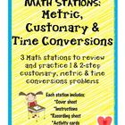 Math Stations: Conversions     This resource can be used as part of your math centers/stations and/or as a review for assessments.    This resource inc...