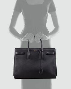 d702f66c67 Saint Laurent Classic Sac De Jour Leather Satchel Bag