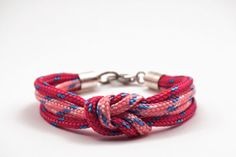 Double climb rope bracelet in pink and fuchsia by Beh1ndByMK