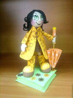 Человечки ручной работы. Куклы из фоамирана Девочки с зонтиками. Олеся Басирова Украшения с душой. Ярмарка Мастеров. Купить куклу, комбинированный