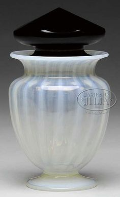Buy online, view images and see past prices for STEUBEN STRAW OPAL JAR. Invaluable is the world's largest marketplace for art, antiques, and collectibles. Steuben Glass, Blenko Glass, Glass Jars, Black Amethyst, Art Deco Glass, Opaline, Porcelain Ceramics, Vases Decor, Art Nouveau