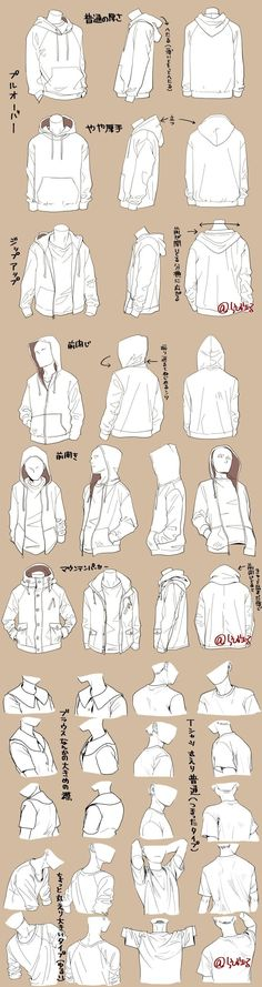 Manga Drawing Tips Different kind of jackets - How to draw clothing - clothing drawing reference Drawing Reference Poses, Drawing Poses, Drawing Lessons, Design Reference, Drawing Tips, Drawing Ideas, Sketch Drawing, Manga Drawing, Pencil Sketching