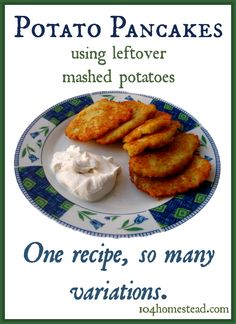 ... potato muffins, Recipe for potato pancakes and Thanksgiving leftovers