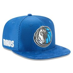 Dallas Mavericks New Era Youth 2017 NBA Draft Official On Court Collection 9FIFTY Snapback Hat - Blue