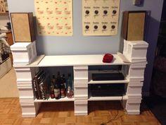 DIY Cinder Block and Wooden Shelves
