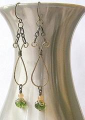 Antique Brass Teardrop Earrings  from Brenda -