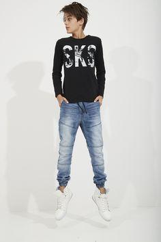 Sk8 Tee + Brooklyn Denim Pant | Blue - Pavement Brands