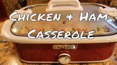 ~Creamy Chicken & Ham Crock Pot Casserole With Linda's Pantry~