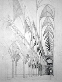 Gothic Interior by MedievalPete.deviantart.com on @deviantART