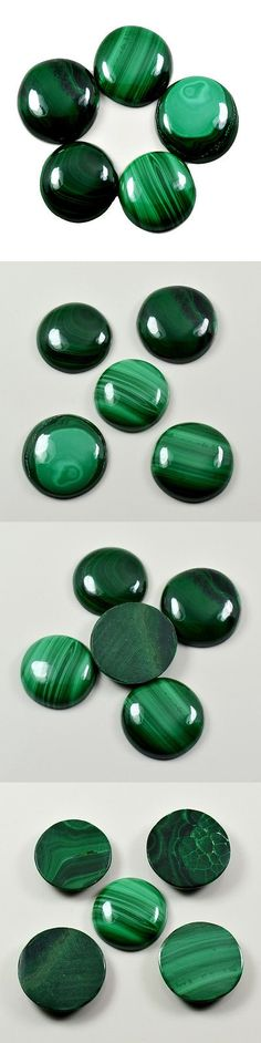 Malachite 10236: 84.75 Ct Green Round Shape Natural Malachite Loose Gemstone _Uxl37 BUY IT NOW ONLY: $56.0